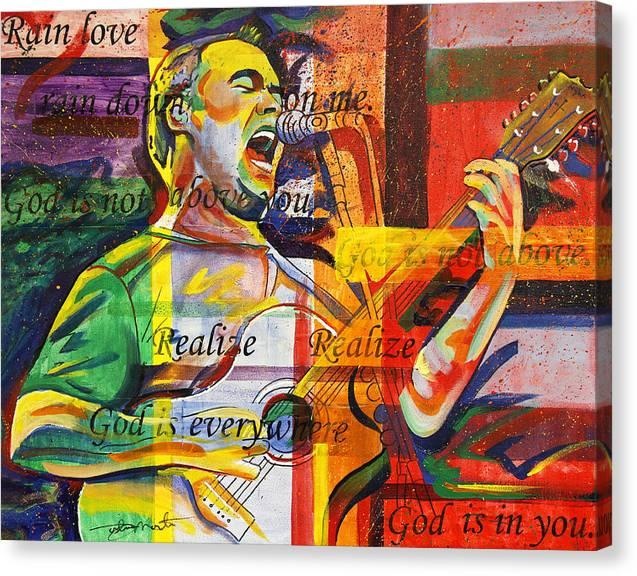 Dave Matthews Canvas Print featuring the painting Dave Matthews-bartender by Joshua Morton
