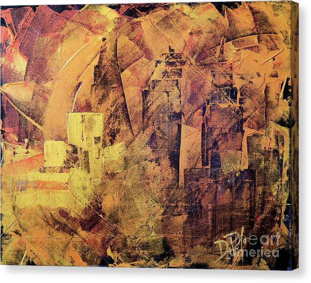 Cleveland Ohio Canvas Print featuring the painting Imagine Cleveland by JoAnn DePolo