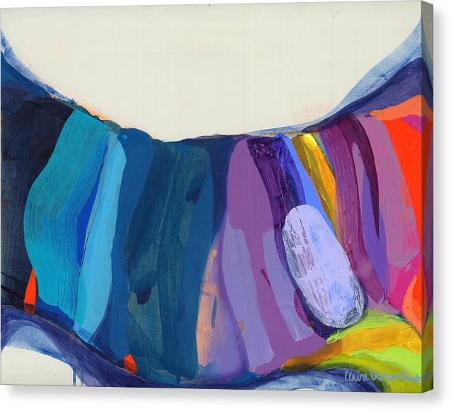 Abstract Canvas Print featuring the painting With Joy by Claire Desjardins