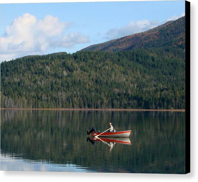 Fishing Canvas Print featuring the photograph Fisherman's Joy by Ed Mosier