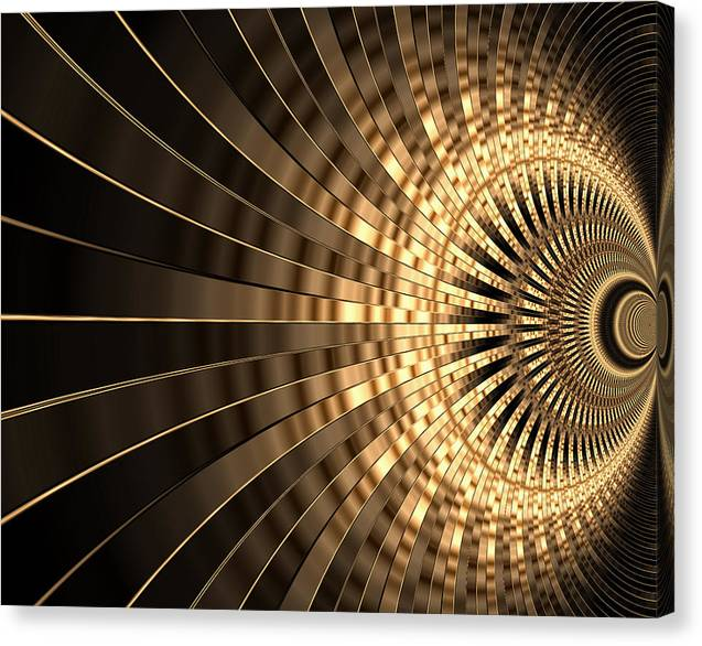 Abstract Canvas Print featuring the digital art Abstract Gold Series 1 by Carlos Diaz