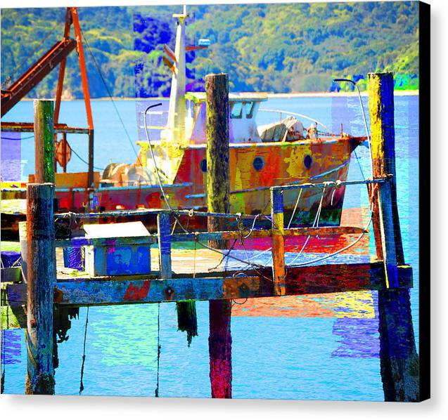 Canvas Print featuring the digital art Junk by Danielle Stephenson