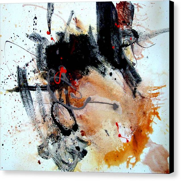 Abstract Canvas Print featuring the painting Resolving Issues by Dale Witherow