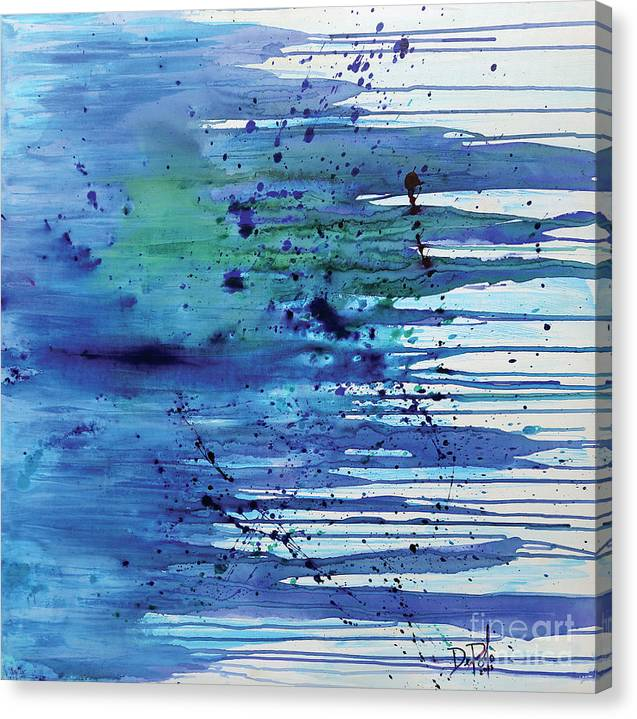 Abstract Canvas Print featuring the painting At The Shore by JoAnn DePolo