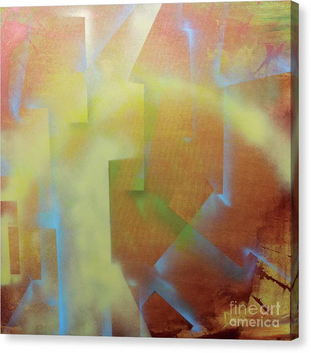 Abstract Canvas Print featuring the painting Uncontainable by JoAnn DePolo