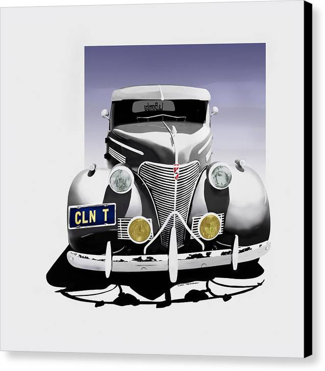 Chevrolet Canvas Print featuring the painting La Bomba Lowrider by MOTORVATE STUDIO Colin Tresadern