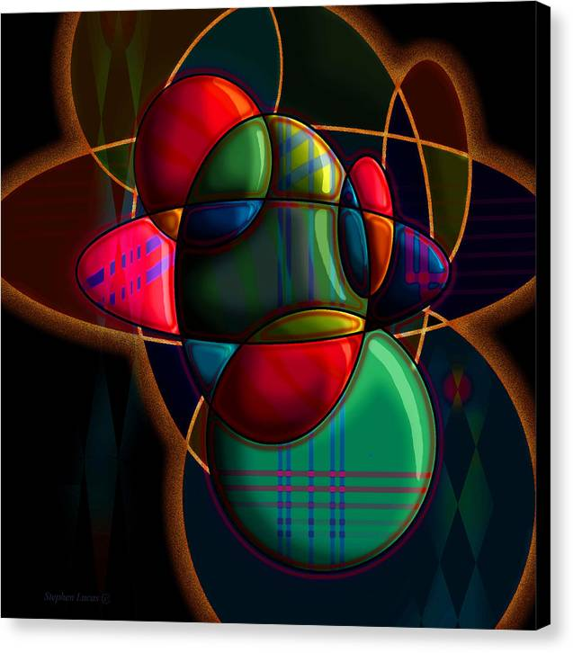 Modern Canvas Print featuring the digital art Tactile Space I by Stephen Lucas