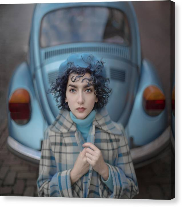 Tale Canvas Print featuring the photograph A Study In Blue by Anka Zhuravleva
