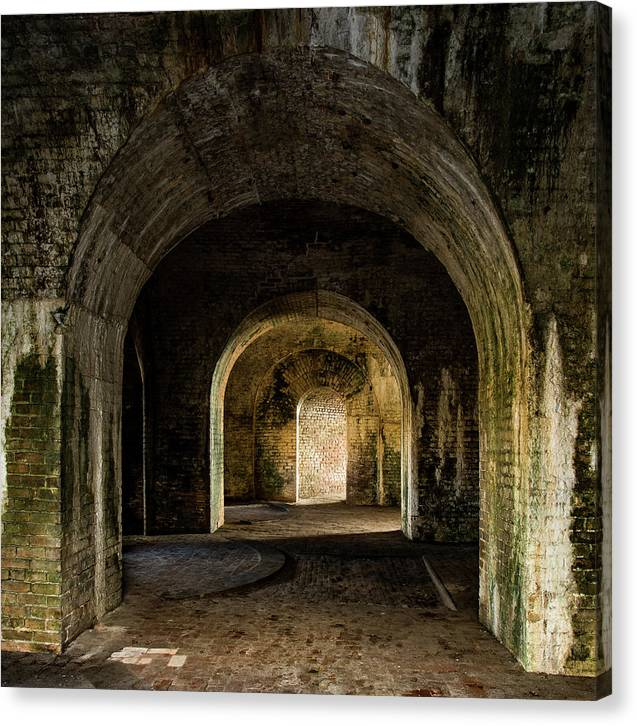 Fort Canvas Print featuring the photograph Fort Pickens No. 1 by Al White