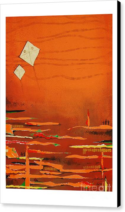 Abstract Canvas Print featuring the mixed media Untitled by Padmakar Kappagantula