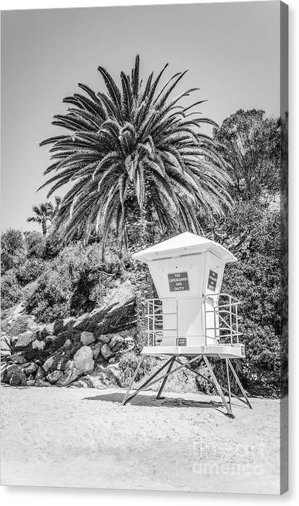 Laguna Beach Lifeguard Tower Black and White Picture by Paul Velgos