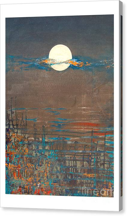 Abstract Canvas Print featuring the painting Untitled by Padmakar Kappagantula