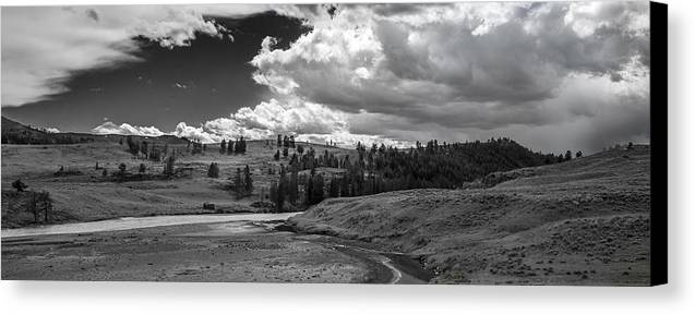 Sky Canvas Print featuring the photograph Serene Valley by Jon Glaser