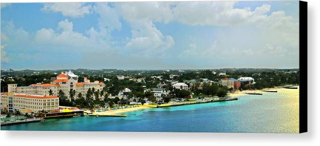 Nassau Canvas Print featuring the photograph Nassau Bahamas by Kathy Jennings