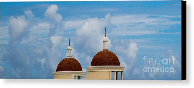 Blue Sky Canvas Print featuring the photograph In The Sky by Olga Photography