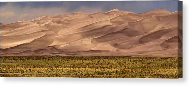Great Sand Dunes In Colorado Canvas Print featuring the photograph Great Sand Dunes In Colorado by Dan Sproul