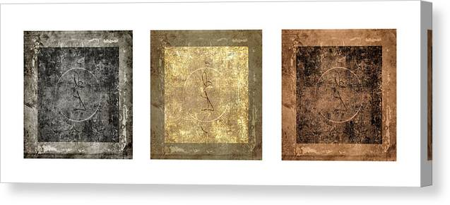 Prayer Canvas Print featuring the photograph Prayer Flag Triptych Series Two by Carol Leigh