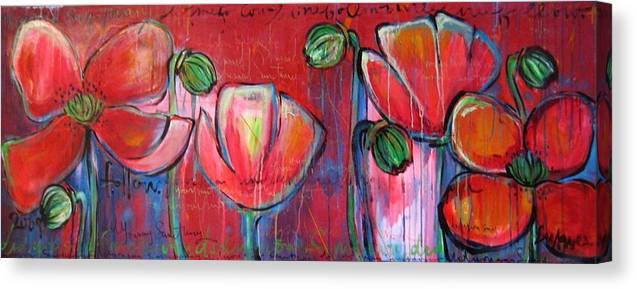 Red Canvas Print featuring the painting Did You Say Sanctuary by Laurie Maves ART