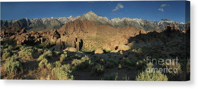 Mountains Canvas Print featuring the photograph Mountain Light by Rick Mann