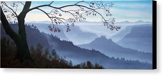Mural Canvas Print featuring the painting Butte Creek Canyon Mural by Frank Wilson