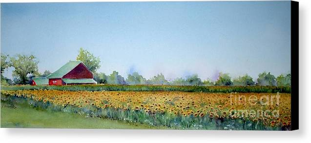 Landscape Canvas Print featuring the painting Field Of Sunshine by Patricia Henderson