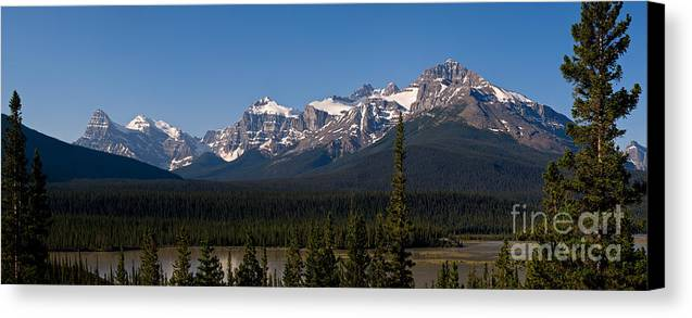 Banff National Park Canvas Print featuring the photograph Banff National Park Panorama by Terry Elniski
