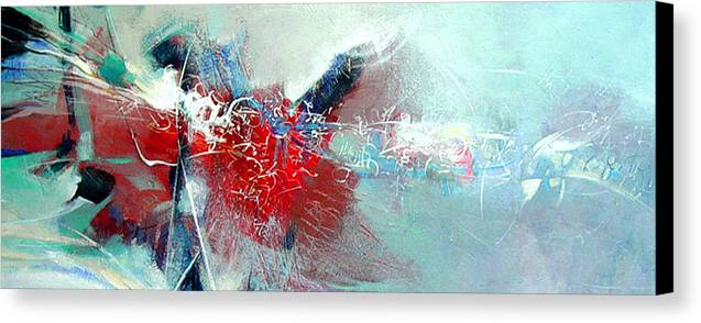Abstract Canvas Print featuring the painting Body Talk by Dale Witherow