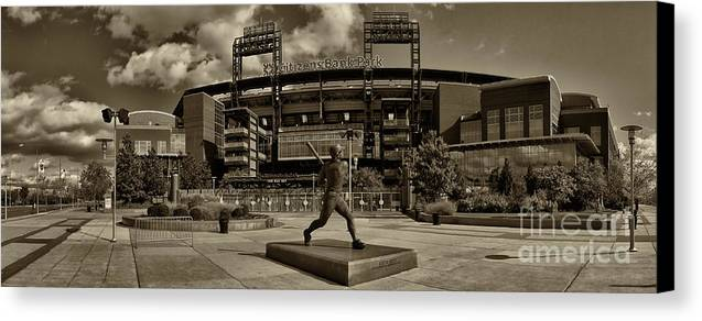 Citizens Park Canvas Print featuring the photograph Citizens Park Panoramic by Jack Paolini