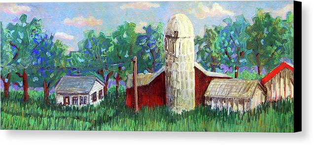 Farm Canvas Print featuring the painting Harry And Thelmas Place by Jame Hayes