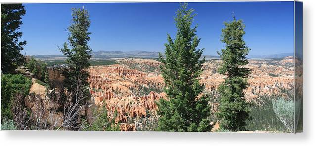 Bryce Canvas Print featuring the photograph Bryce Canyon Panoramic by Margie Wildblood