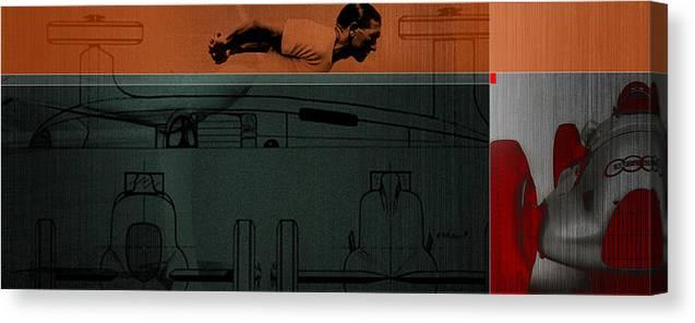 Autounion Canvas Print featuring the digital art Autounion 1 by Naxart Studio