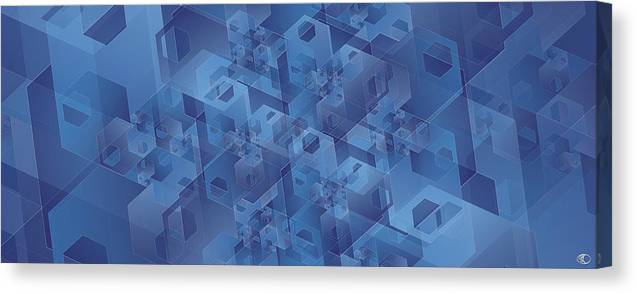 Fibonacci Canvas Print featuring the digital art Hexentricity 1 by Kenneth Armand Johnson
