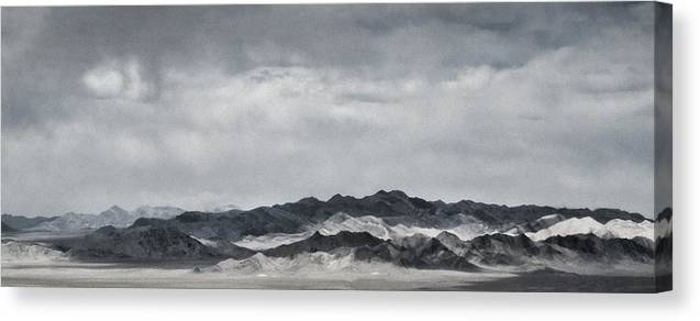Nevada Canvas Print featuring the photograph Nevada Mountains by Nancy Killam