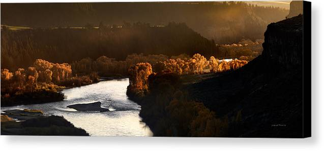Idaho Scenics Canvas Print featuring the photograph Snake River Canyon by Leland D Howard