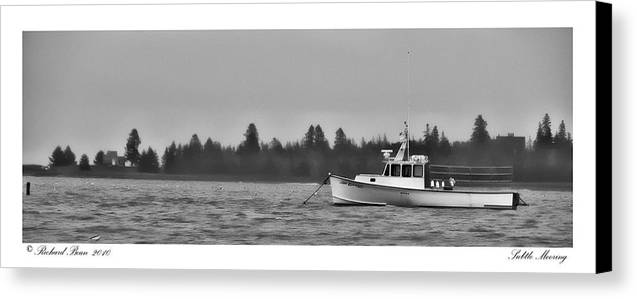 Bay Canvas Print featuring the photograph Subtle Mooring by Richard Bean