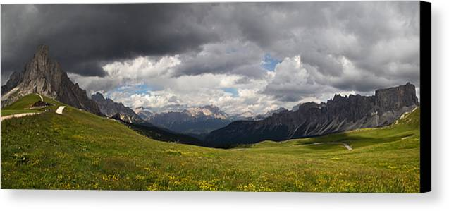 Landscape Canvas Print featuring the photograph Dolomiti by Lali Nisi
