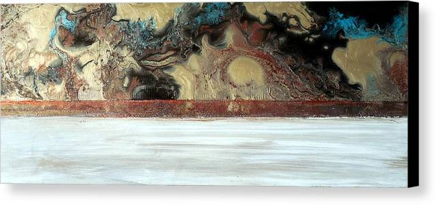 Organic Canvas Print featuring the painting Feldspar by Holly Anderson