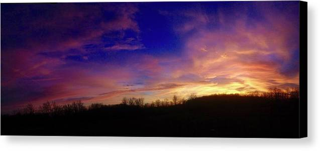 Sunset Canvas Print featuring the photograph The Purple's Sunset by Taylor McClish