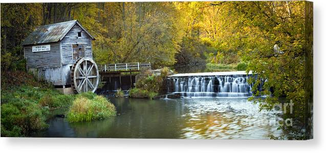 Hyde Canvas Print featuring the photograph 0291 Hyde's Mill Wisconsin by Steve Sturgill