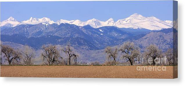 Boulder Canvas Print featuring the photograph Boulder County Colorado Panorama by James BO Insogna