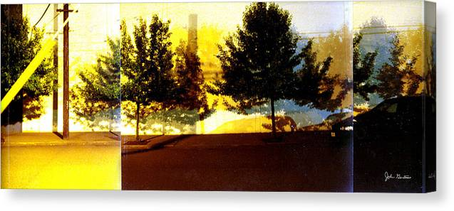 Nightscape Canvas Print featuring the photograph Portland Scenario In Three Chapters by John Gerstner
