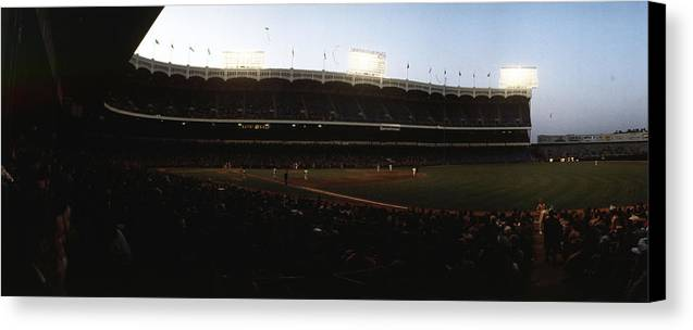 Marvin Newman Canvas Print featuring the photograph Yankee Stadium by Retro Images Archive