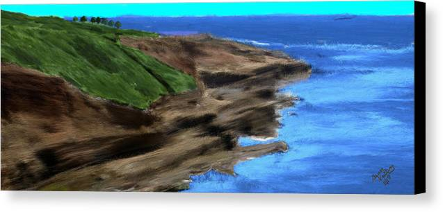 Ocean Canvas Print featuring the painting Coast Of Ireland by Bruce Nutting