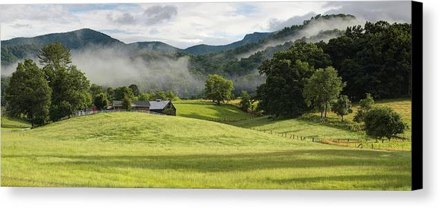 Bakersville Canvas Print featuring the photograph Summer Morning At Bakersville North Carolina by Keith Clontz