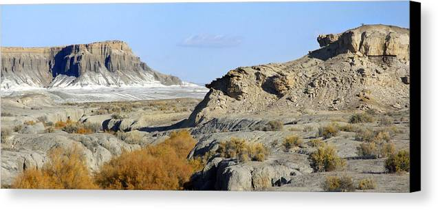Surreal Canvas Print featuring the photograph Utah Outback 42 Panoramic by Mike McGlothlen