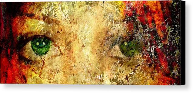 Brett Canvas Print featuring the digital art Eyes Of The Beheld by Brett Pfister