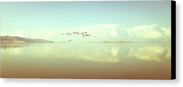 Horizontal Canvas Print featuring the photograph Salt Lake by See More On Www.rafaelpixphoto.com