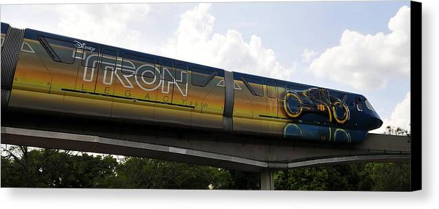 Fine Art Photography Canvas Print featuring the photograph Tron Legacy 2010 by David Lee Thompson