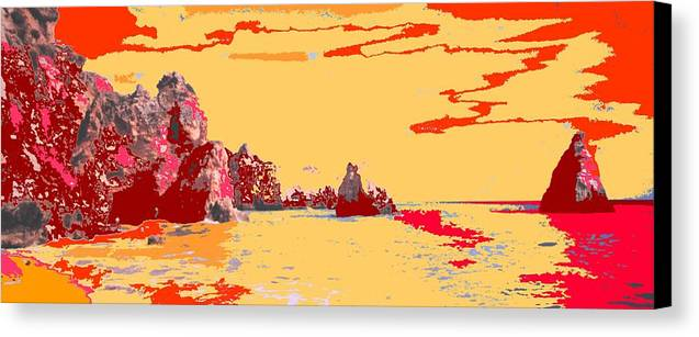 Mediterranean Canvas Print featuring the photograph Algarve Sunrise by Ian MacDonald