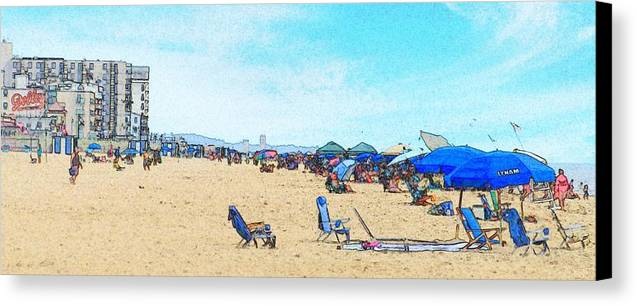 Rehoboth Beach Photography Canvas Print featuring the photograph I Can See The Towers From Here by Jeffrey Todd Moore